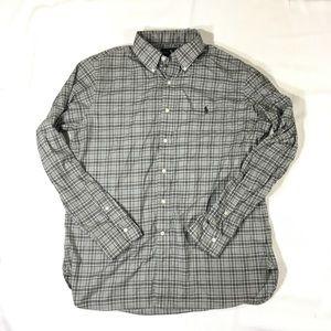 Polo Ralph Lauren Mens Shirt L 100% Cotton Plaid